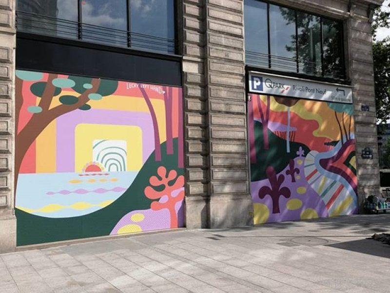 Du street art pour Louis Vuitton à Paris