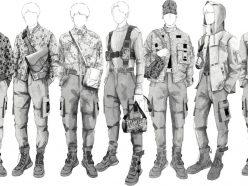 BTS habillé par Kim Jones pour leur tournée!