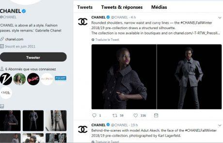 Classement 2018 des marques de luxe préférées sur Twitter