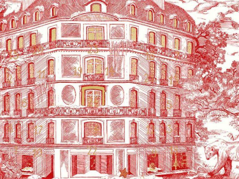 Dior avenue Montaigne : la vitrine de Noël est installée