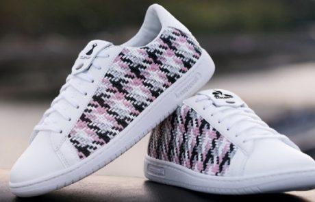 Guerlain s'associe au Coq Sportif pour un sneaker collector