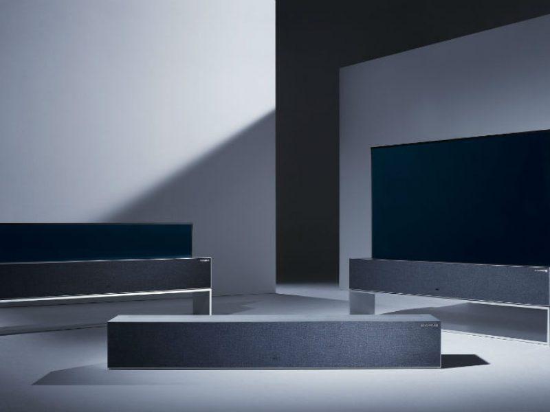LG réinvente le Home Cinema avec son écran enroulable