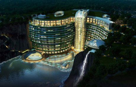 Chine : un hôtel de luxe inauguré dans une ancienne carrière