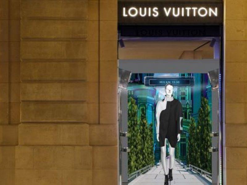 Louis Vuitton présente ses vitrines digitales