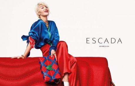 Rita Ora présente sa capsule pour Escada
