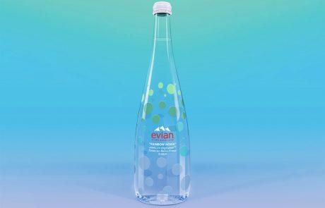 Une bouteille d'Évian au goût de Virgil Abloh