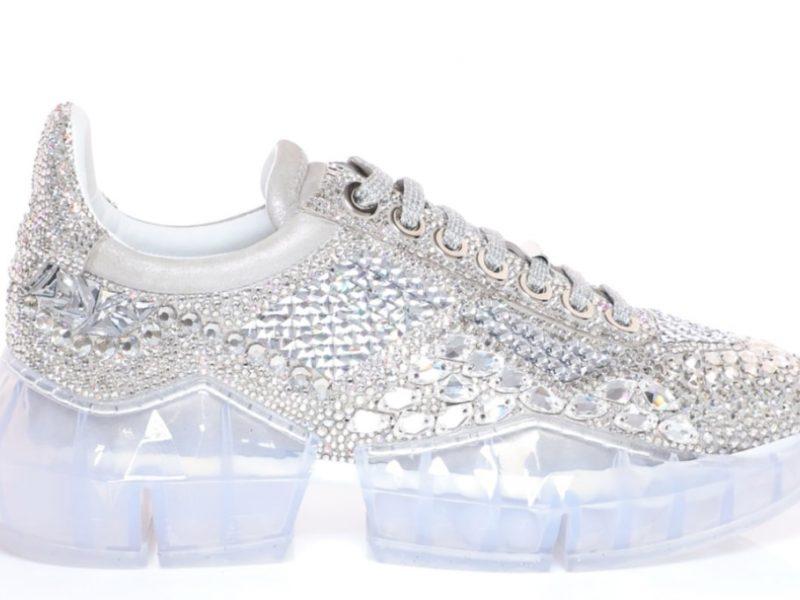 Jimmy Choo signe des sneakers en cristal Swarovski